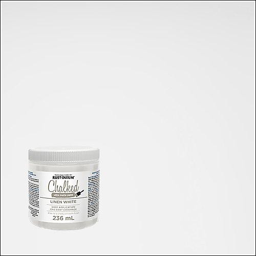 Peinture craie ultra-mate au linge blanc, 236 mL