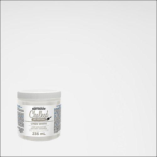 Chalked Ultra Matte Paint In Linen White, 236 Ml