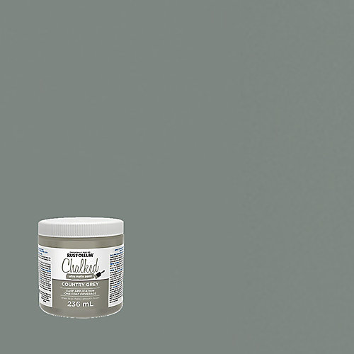 Chalked Ultra Matte Paint In Country Grey, 236 Ml