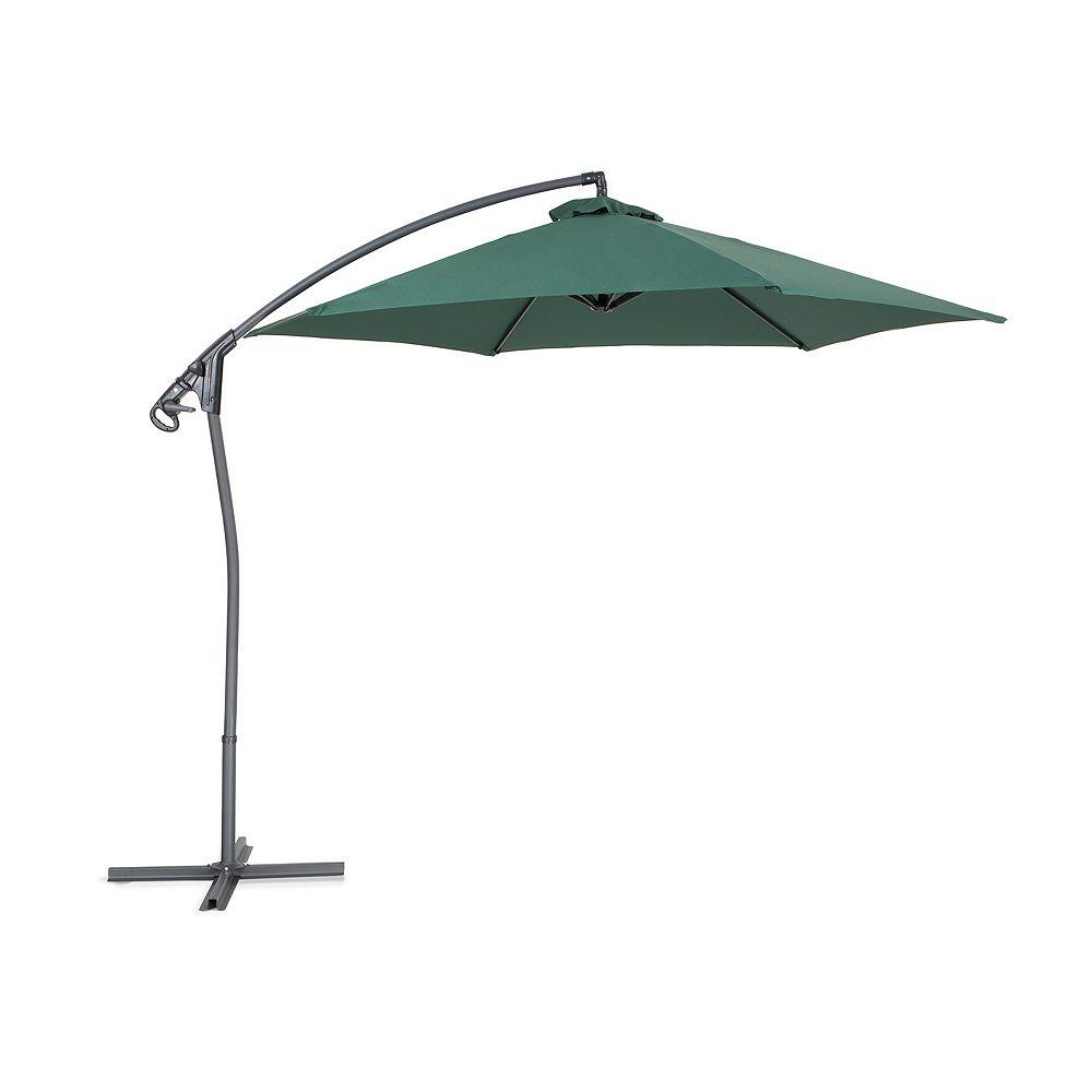 Velago Parasol en métal - toile verte sans lambrequin - Asti II