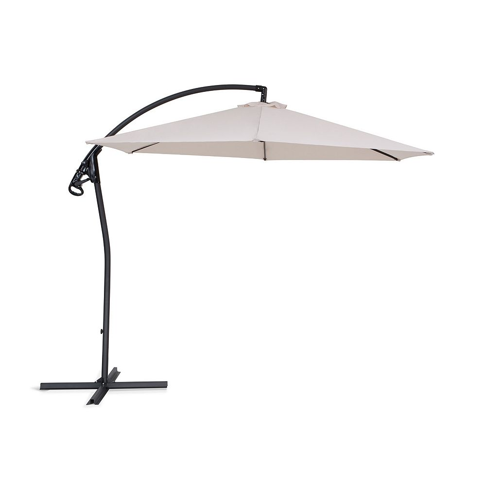 Beliani Cantilever Garden Parasol - Side Post Umbrella - ASTI II  Beige