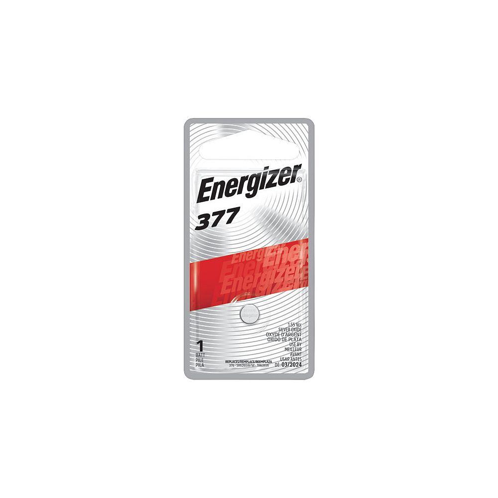 Energizer Pile bouton à l'oxyde d'argent Energizer 377, 1 paquet