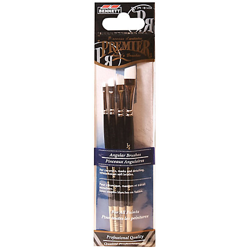 Pro Artist Brush, Angular (4-Pack)