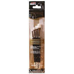 Pro Artist Brushes, Flat (4-Pack)