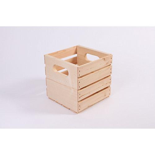 Caisse de pin de 9,5 po x 9,5 po x 9,5 po