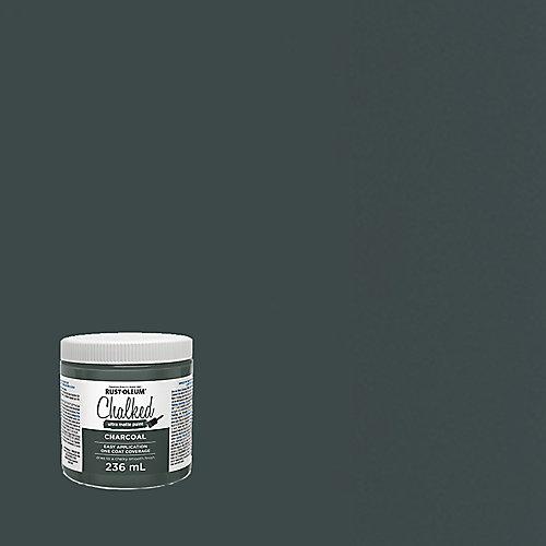 Peinture ultra-mate craquelée au charbon de bois, 236 mL