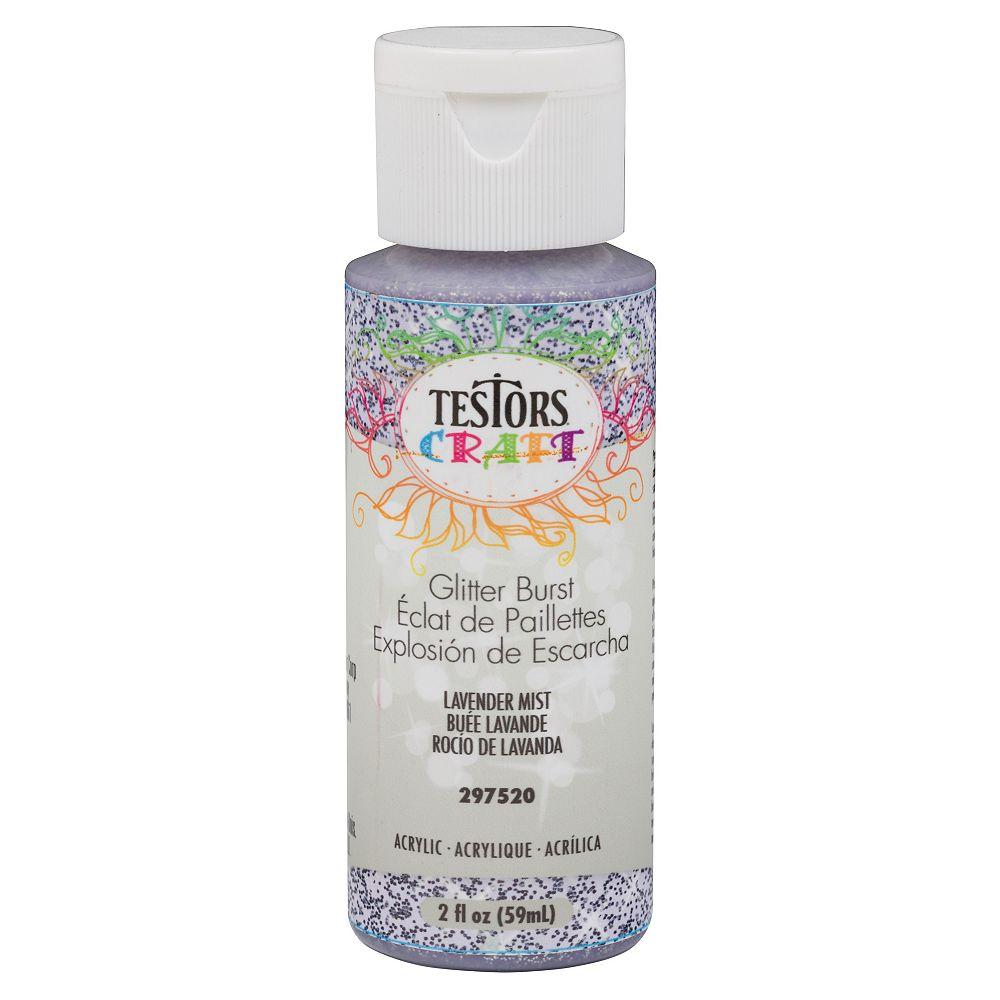 TESTORS CRAFT Acrylic Glitter Burst Paint In Lavender Mist, 59 mL
