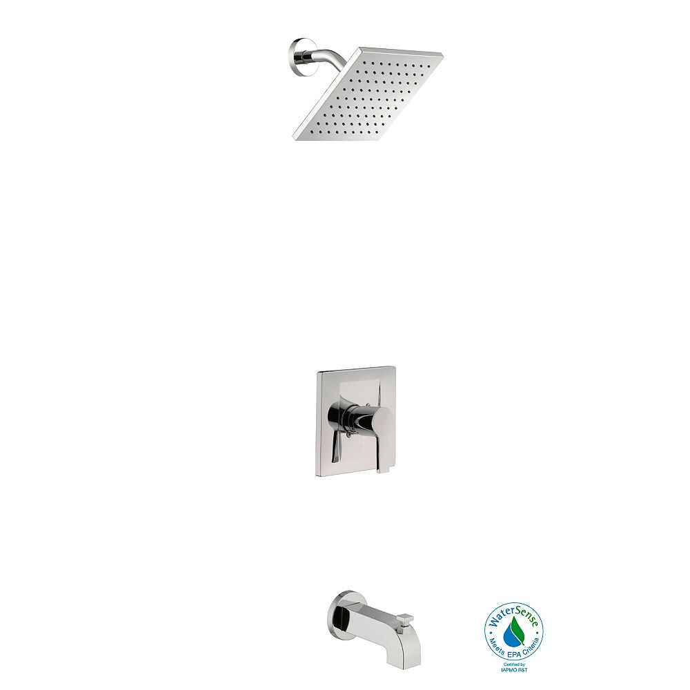 Glacier Bay Modern WaterSense Single-Handle Tub & Shower Faucet Set in Chrome