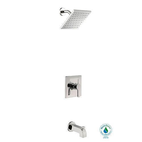 Robinet de bain et douche moderne, 1 manette, WaterSense, chrome