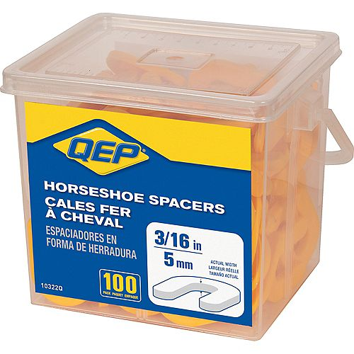 3/16 inch Horseshoe Tile Spacers (Pail of 100)