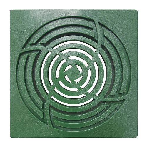6 inch Square Green Grate For Reln Bullet Basins