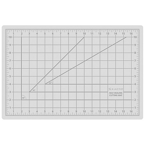 Gris (opaque), 12 po x 18 po