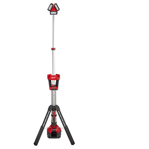 Milwaukee Tool M18 18V Li-Ion Cordless 3000-Lumen ROCKET LED Portable Stand Work Light & Charger (Tool Only)