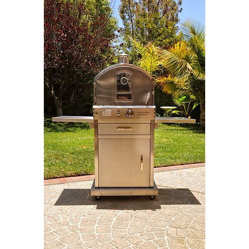Stainless Steel Pizza Oven with Cart Stand