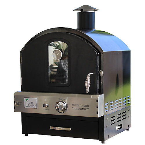 Powder Coated Pizza Oven in Black