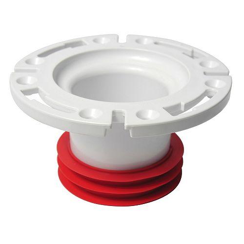 Bride De Toilette Push-Tite Intérieur 4 Blanc Ext - Sortie