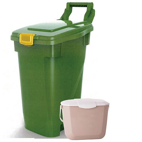 Enviro World 60 L Curbside Organics Bin with Kitchen Organics Bin