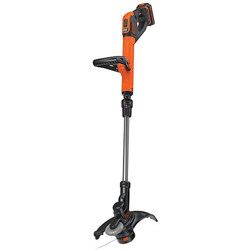 BLACK+DECKER 12-inch 20V MAX Lithium-Ion Cordless 2-in-1 String Grass Trimmer/Lawn Edger with (1) 2.5Ah Battery and Charger Included