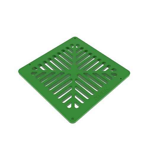 9 inch X 9 inch Green Grate