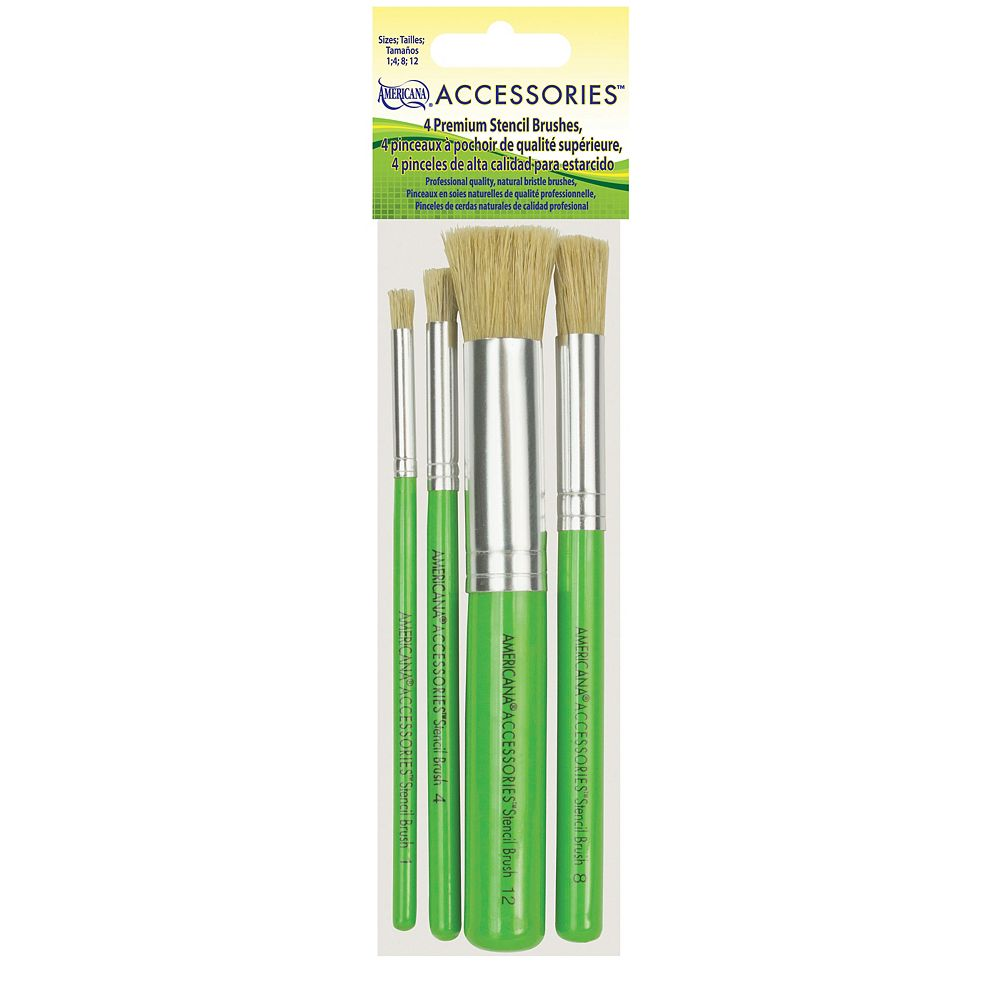 DecoArt Premium Stencil Brush Set