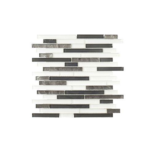 Jeffrey Court 11.75-inch x 11.75-inch x 6 mm Glass Mosaic Tile in Jig Saw
