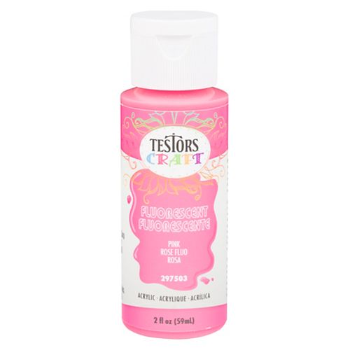 Acrylic Paint In Fluorescent Pink, 59 mL