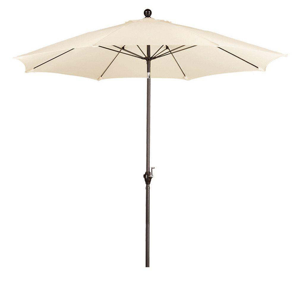 California Umbrella 9 Feet WR Fiber Market Umbrella PT Bronze/Polyester/Antique Beige