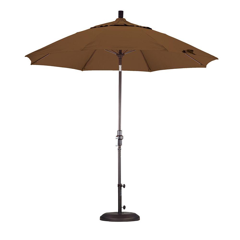 California Umbrella 9' en fibreglass marché parasol collier Tilt Sunbrella/Bronze/toile teck