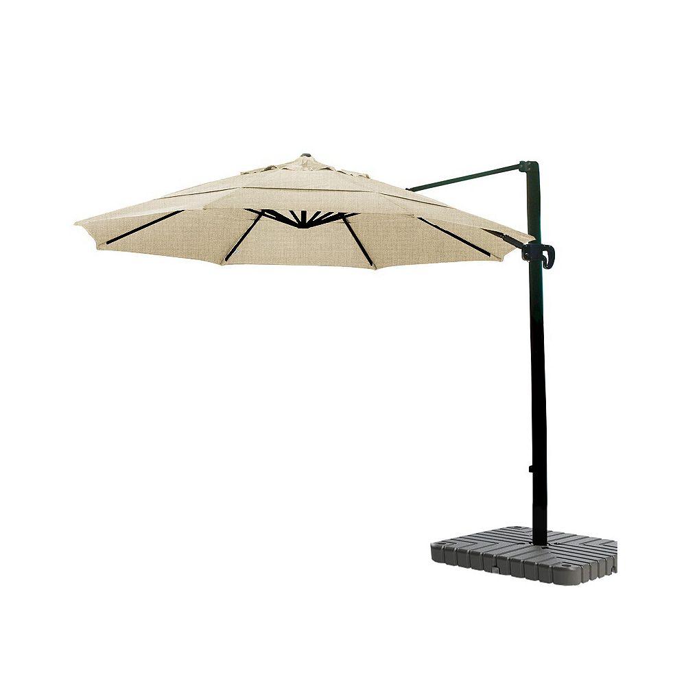 California Umbrella 11' CantileverUmbrella CrankLift MultiPositon Tilt Sunbrella/Bronze/Heather Beige