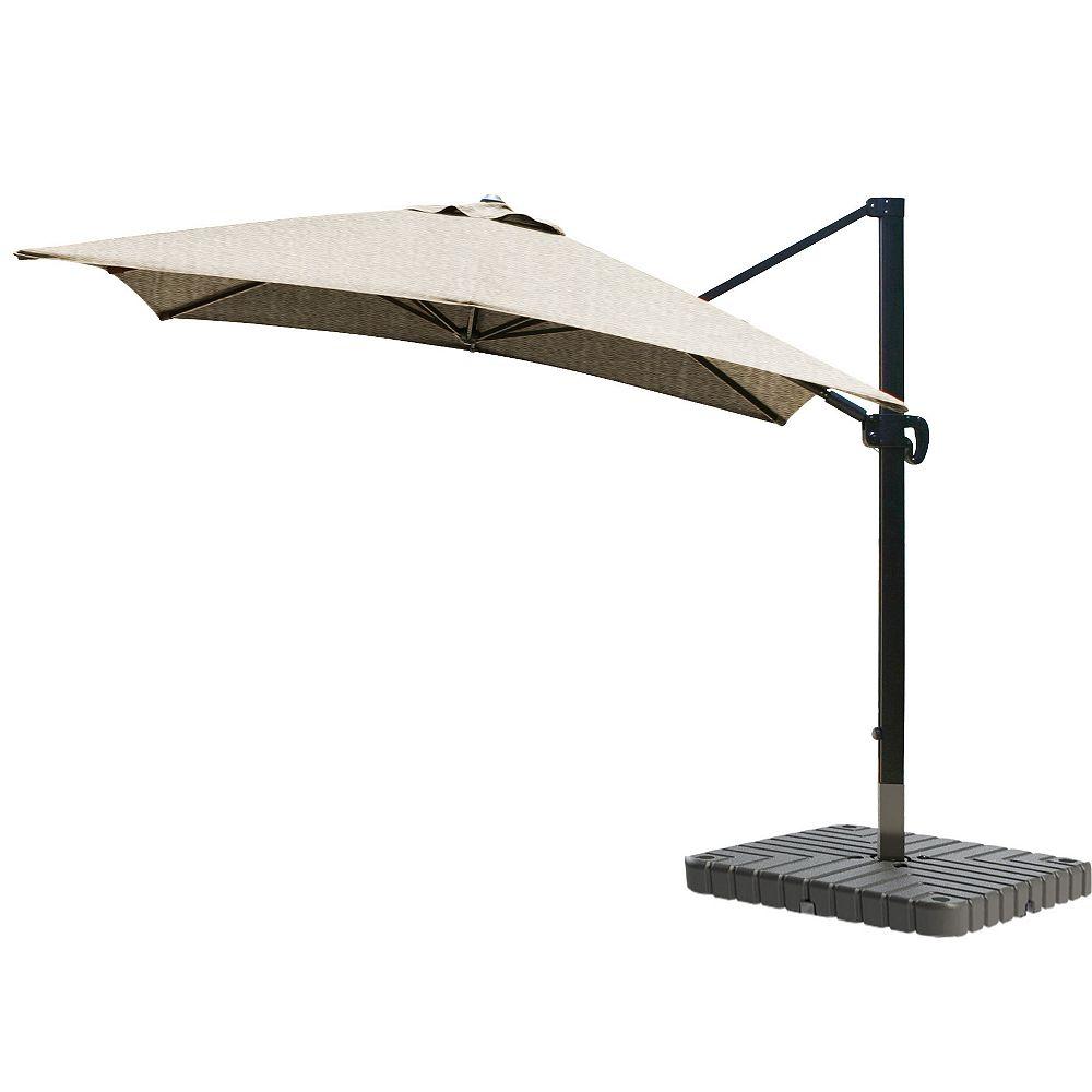 California Umbrella 10 « x 10 » SquareCantileverUmbrella CL MultiPositon Bronze/Sunbrella/Ses.Linen