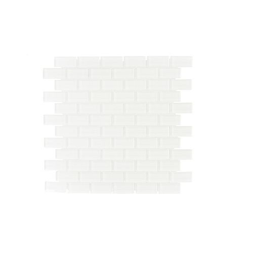 11.625-inch x 11.75-inch x 6 mm Glass Mosaic Tile in Greenland Drops