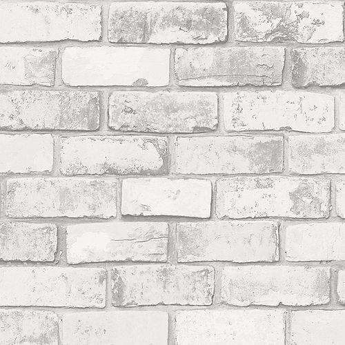 Brick White/Grey Wallpaper