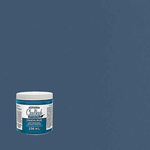 Peinture craie ultra-mate en bleu côtier, 236 mL