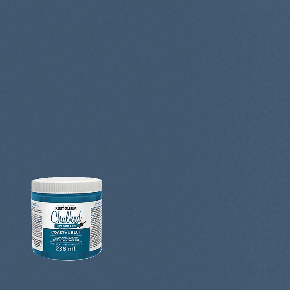 Rust-Oleum Chalked Ultra Matte Paint In Coastal Blue, 236 Ml