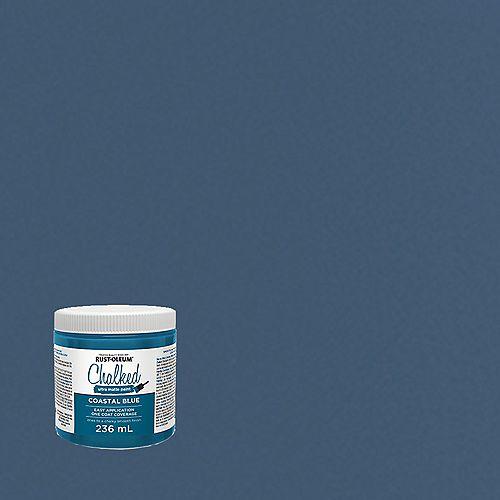 Chalked Ultra Matte Paint In Coastal Blue, 236 Ml