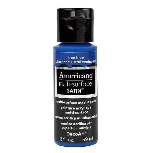 DecoArt Multi-Surface Satin Acrylic Paint 2oz -True Blue