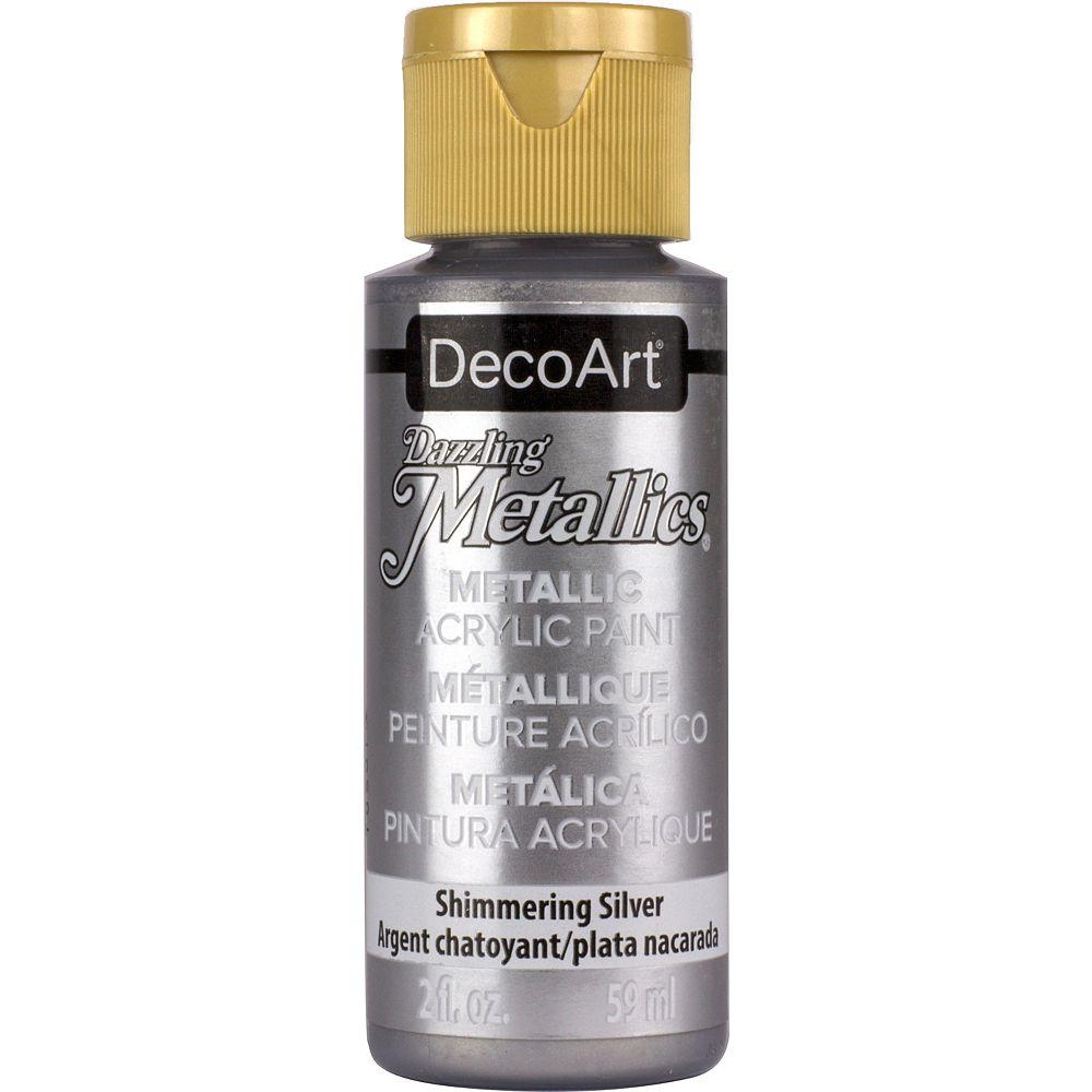 DecoArt Metallic Paint 2oz -Shimmering Silver