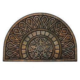 23-inch x 35-inch Half Moon Brassaii Door Mat