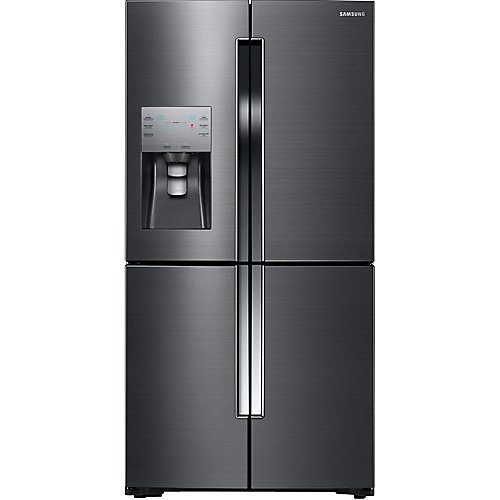 36-inch W 22.5 cu. ft. French Door Refrigerator in Fingerprint Resistant Black Stainless - ENERGY STAR®