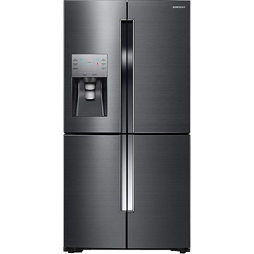 Samsung 36-inch W 22.5 cu. ft. French Door Refrigerator in Fingerprint Resistant Black Stainless - ENERGY STAR®