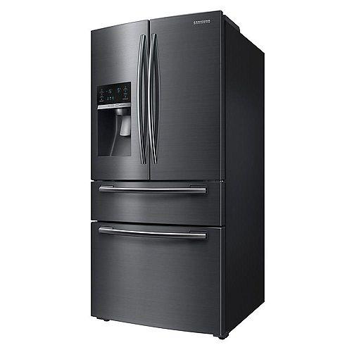 Samsung 33-inch W 25 cu. ft. French Door Refrigerator in Fingerprint Resistant Black Stainless - ENERGY STAR®