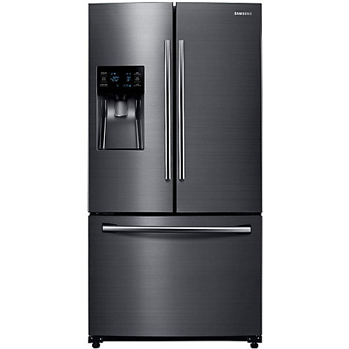 36-inch W 24.6 cu. ft. French Door Refrigerator in Fingerprint Resistant Black Stainless - ENERGY STAR®
