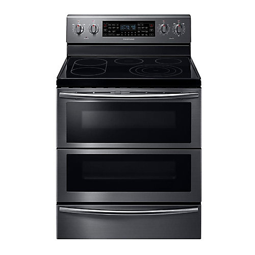 30-inch 5.9 cu. ft. Double Oven Electric Range with Self-Cleaning in Black Stainless Steel