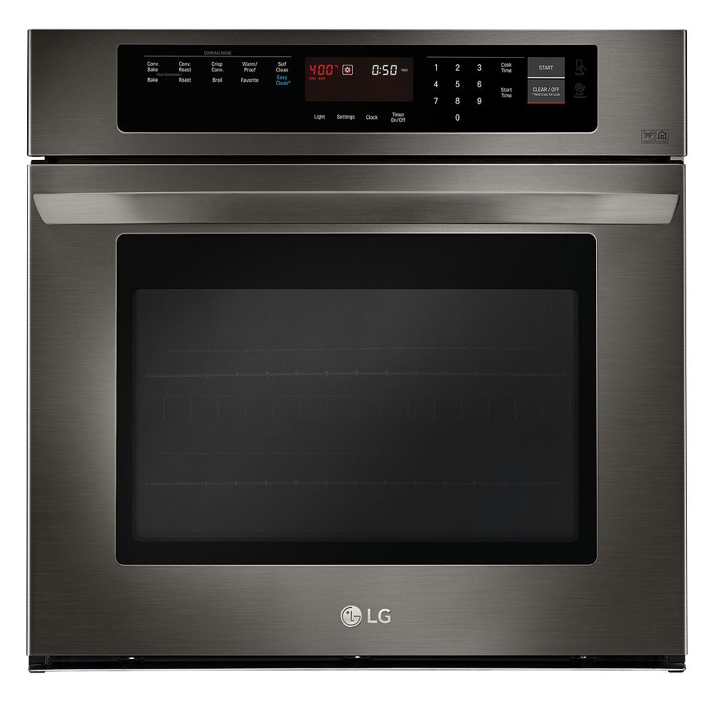 LG Electronics 30-inch 4.7 cu. ft. Single Wall Oven with EasyClean® in Black Stainless Steel