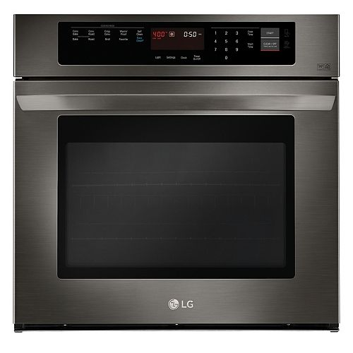 30-inch 4.7 cu. ft. Single Wall Oven with EasyClean® in Black Stainless Steel