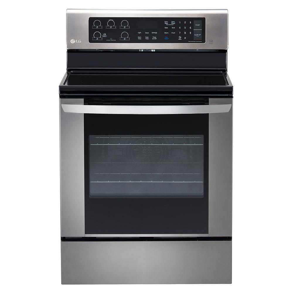 LG Electronics 6.3 cu. ft. Electric Range with True Convection and EasyClean® in Stainless Steel