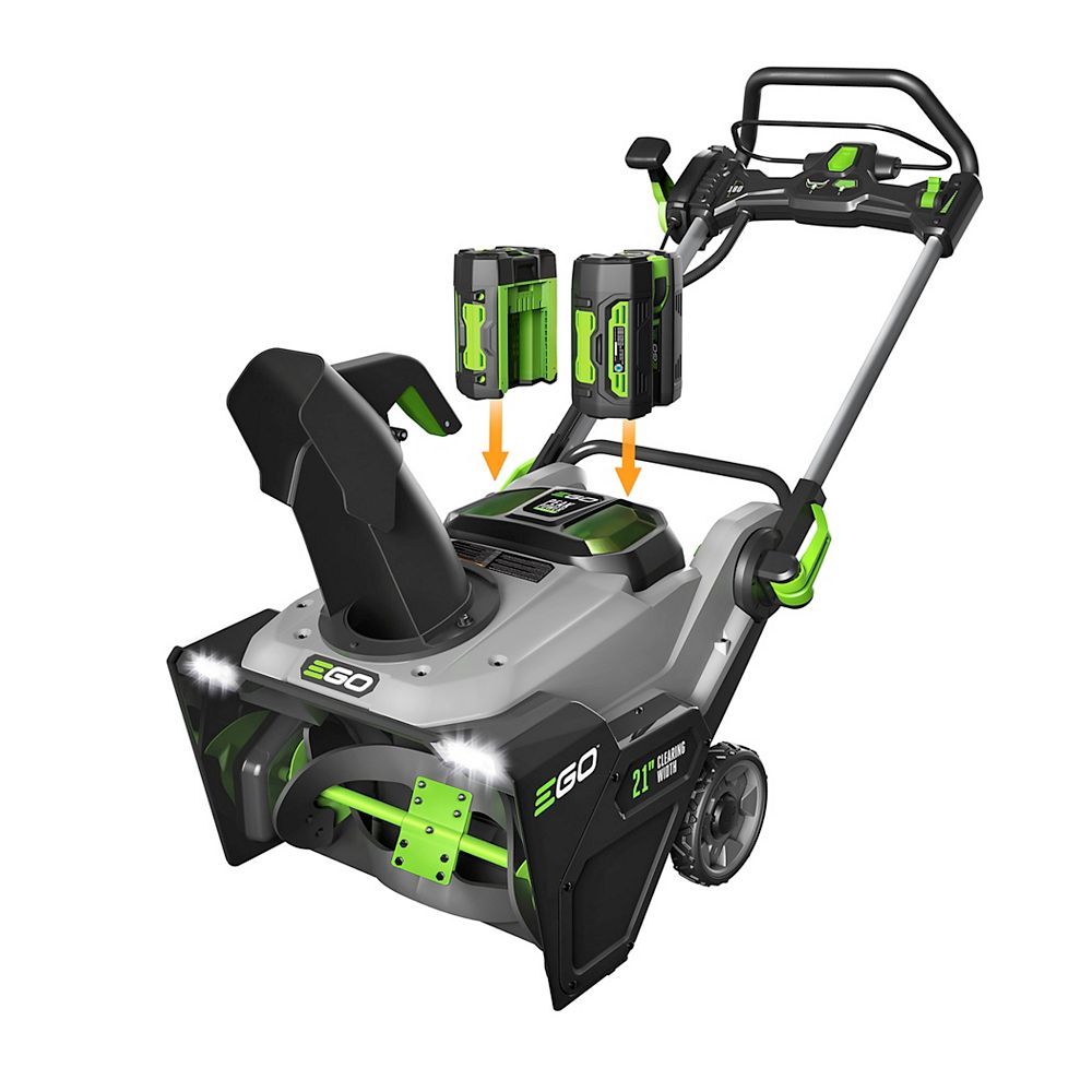 EGO POWER+ 21-inch 56V Lithium-Ion Cordless Snow Blower Kit with (2) 5.0Ah Batteries & 550W Charger