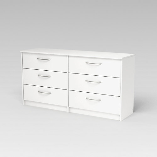 Finch Finch 6-Drawer Dresser in Antique White