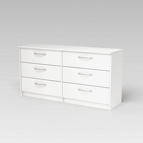 Finch Finch 6-Drawer Dresser in Antique White