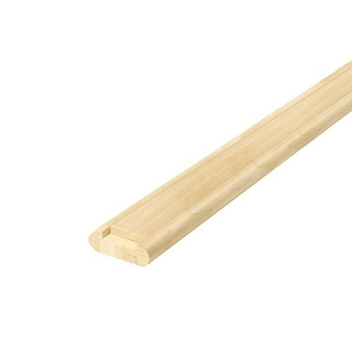 Alexandria Moulding 3/4-inch 2 1/4-inch x 96-inch Maple Show Rail with Fillet